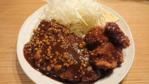 野郎飯のオリジナル味噌カツ(ミルフィーユロースとヒレ)