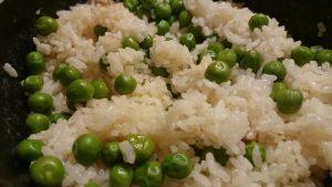 白だしで炊く、グリンピースの豆ご飯。