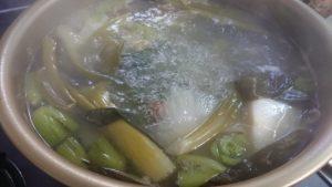 アゴと帆立と野菜出汁の塩ちゃんこ鍋(大体30人前)