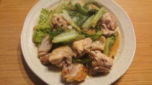 鶏肉レタス炒め