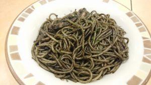 サイゼリヤのイカ墨スパゲッティ