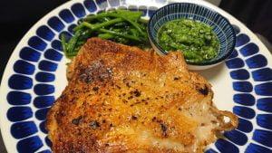野郎飯流・鶏もも肉ソテーとセロリソース