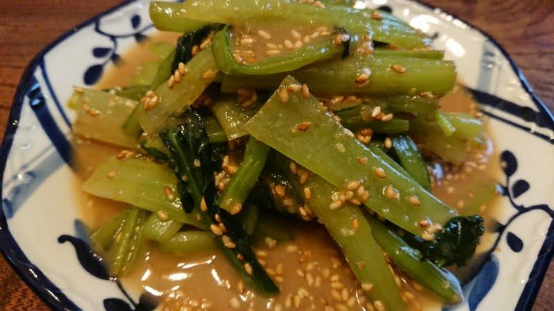 小松菜の甘い胡麻和え