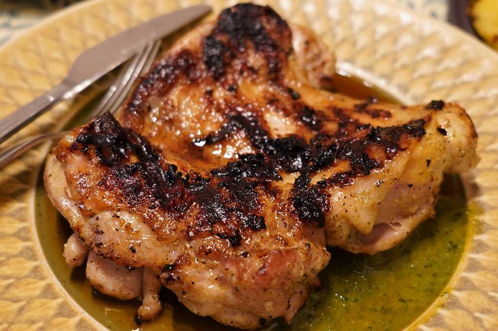 鶏もも肉バジル麹焼き